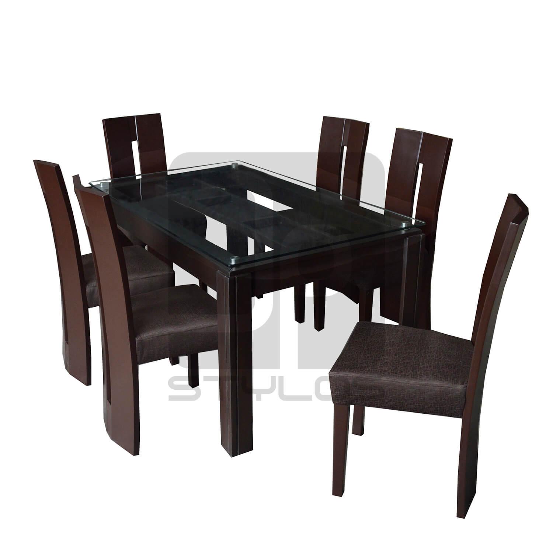 Ferrer juego de comedor de 6 sillas jp stylos muebler a for Juego de comedor 6 sillas