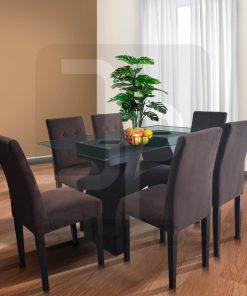Casia: Juego de comedor de 6 sillas