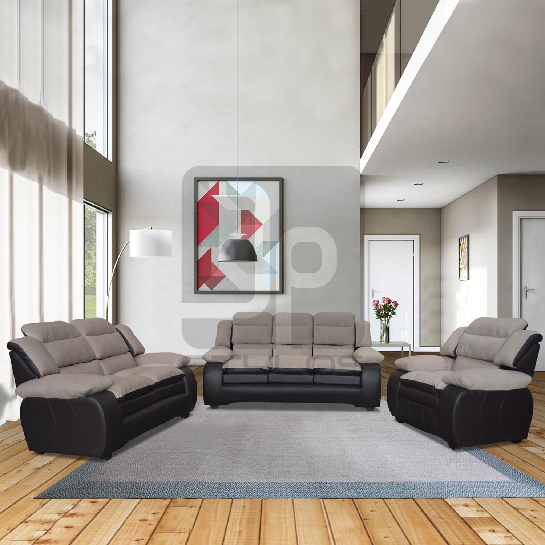 Asela juego de sala confortable jp stylos muebler a for Muebles de sala madera