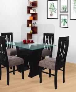 Anitza: Juego de comedor de 4 sillas