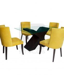 Damila: Juego de comedor de 4 sillas | JP STYLOS MUEBLERÍA